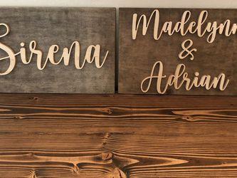 Wooden name sign - custom name sign - nursery decor - wall art above crib - baby gift - baby shower for Sale in Gilbert,  AZ