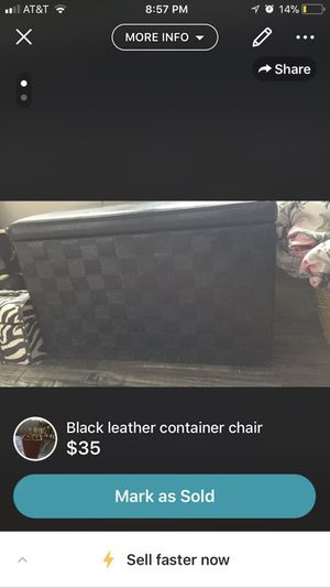 Black container ottoman for Sale in Pittsburgh, PA