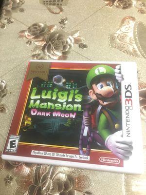 Luigis Mansion dark moon 3ds for Sale in Riverside, CA