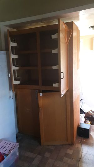 Cabinet with shelves on door for Sale in Fresno, CA
