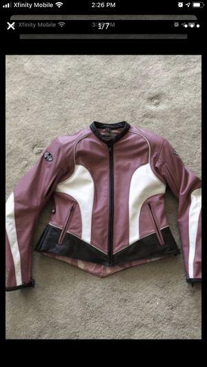 Joe Rocket leather motorcycle jacket - ladies medium for Sale in Lynnwood, WA