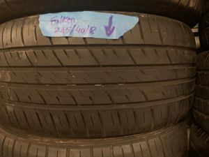 Set of Falken tires size 245/40/18 with 40% tread left on them No installation selling tires only for Sale in Corona, CA