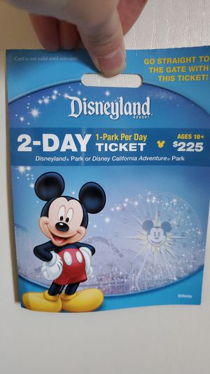 Disneyland ticket for Sale in Sacramento, CA