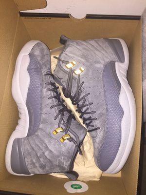 Jordan's 12 dark grey size 10 and good Condition for Sale in Reston, VA