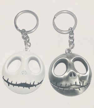 Jack skellington white OR pewter metal keychain. Nightmare before Christmas new for Sale in Queens, NY