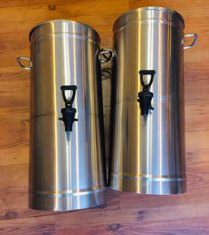 2 commercial stainless bunn tdo-n 3.5 gallon iced tea servers for Sale in Burkburnett, TX