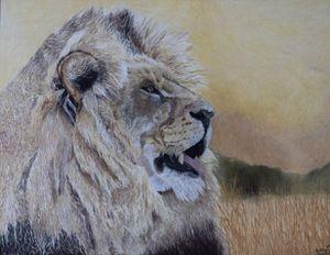 Lion Drawing Original Artwork for Sale in Wetumpka, AL