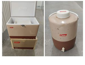 Vintage Coleman Cooler and Jug Butternut Brown for Sale in Seattle, WA