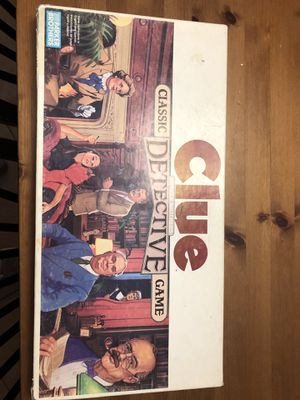 1986 collectible Clue board game for Sale in Mansfield, TX
