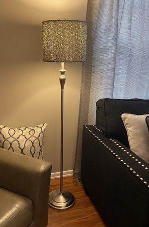 Floor lamp with sequin shade for Sale in Cranberry Township, PA
