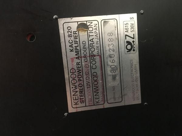 Kenwood Kac 820 Amp For Sale In Ontario Ca Offerup