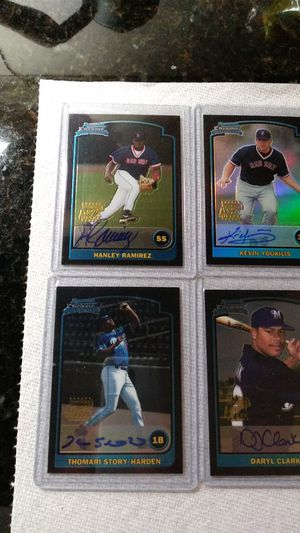 Baseball cards. 2003 Bowman Chrome Near Set With 8 Autos for Sale in Glendale, CA
