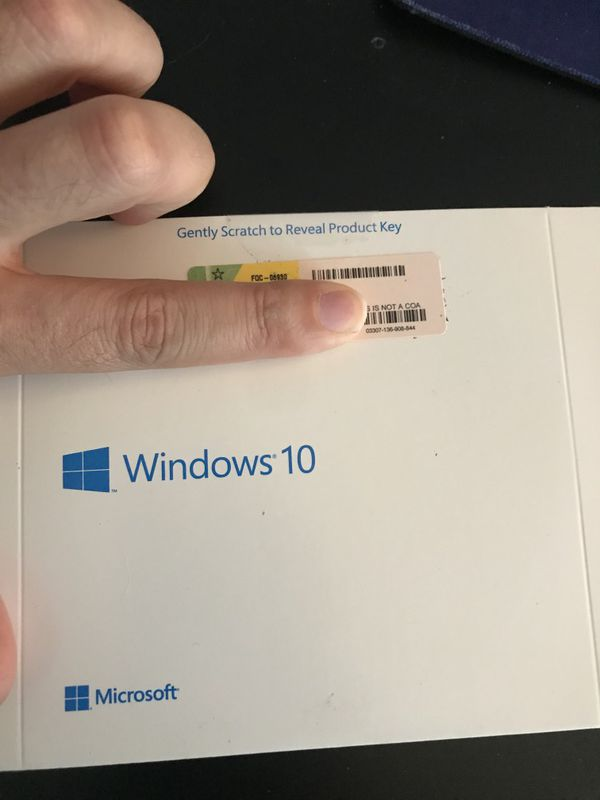 Microsoft Windows 10 pro disk with key for laptop and desktop computer pc
