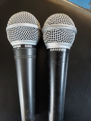 Shure SM48 and Samson microphone for Sale in Farmersville, CA