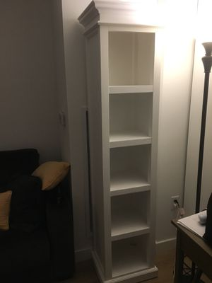 White Halifax bookcase - bought from Wayfair and never used, pure wood, no particleboard - $250 for Sale in New York, NY