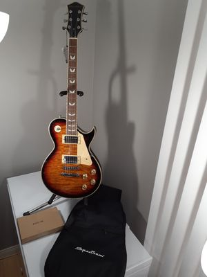 Brand New Spectrum Les Paul Copy Electric Guitar with soft gig bag and extras for Sale in Arlington, TX