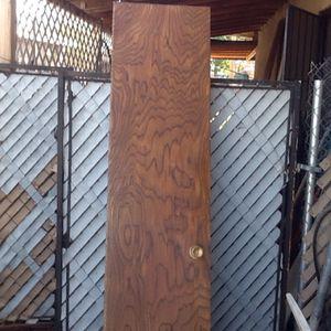 By fold oak doors 35 1/2 by 79 for Sale in Tempe, AZ
