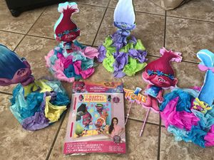 Trolls Party Pack w/Centerpieces & Gift-bag for Sale in Portland, OR