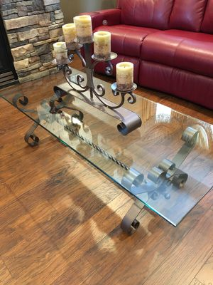 Coffee table with candles for Sale in Chelan, WA