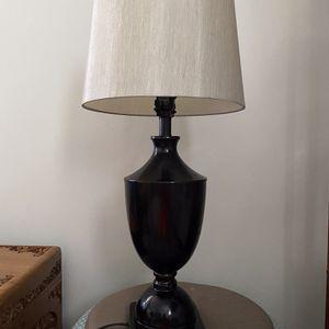 Lamp, Metal Bronze Tone Base Nice Material Shade. for Sale in Burien, WA
