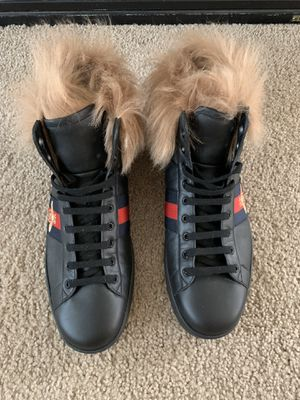 Gucci Ace High Top Sneakers with Fur for men for Sale in Sacramento, CA