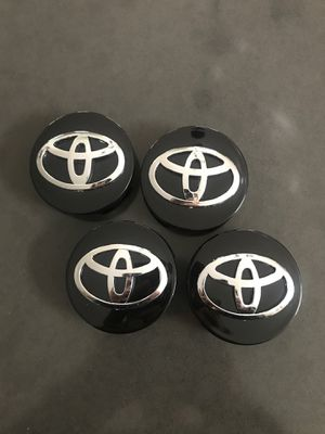 """4 Pieces 62mm 2.44"""" Black Wheel center HubCap for Toyota Camry, Corolla, or Avalon for Sale in Wildomar, CA"""