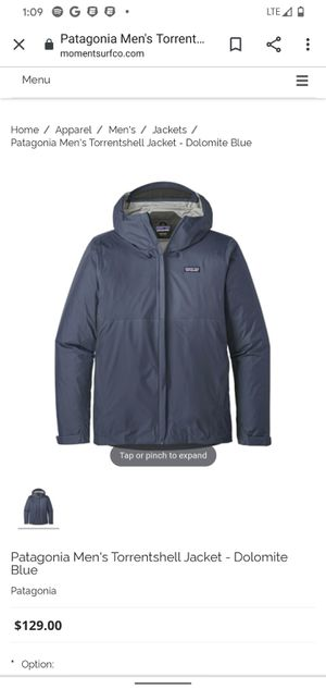 Patagonia Torrent shell jacket Dolomite Blue for Sale in Tacoma, WA