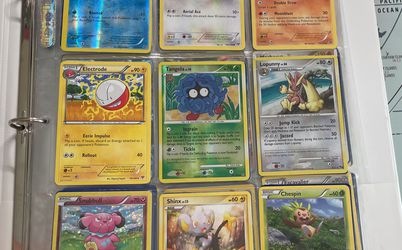 2.5 Inches of Pokémon Cards w/Binder. 1995 , 2013-2015 for Sale in Bellevue,  WA