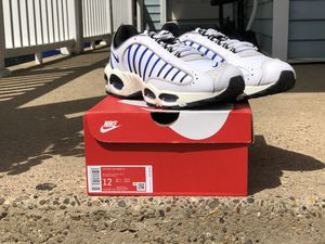 Nike Air Max Tailwind IV Men's Shoes White-Summit White-Vast AQ2567-105 Size 12 for Sale in Riverside, NJ