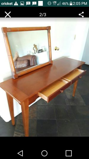 Entry Table - sofa table - antique - buffet table w/ mirror - valued @$500 - 1st. $250 obo for Sale in Avondale, AZ