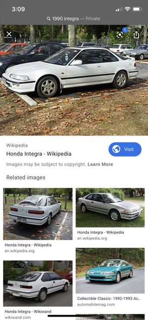 1990-1993 Acura integra part out for Sale in Visalia, CA