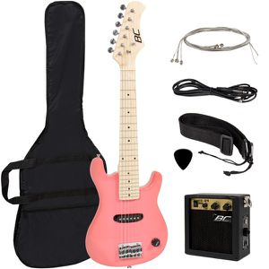 "Electric Guitar Kids 30"" Pink Guitar With Amp + Case + Strap and More New for Sale in Dublin, OH"