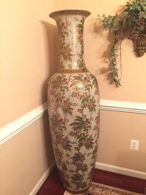 Large Oriental Porcelain Floor Vase for Sale in Fairfax, VA