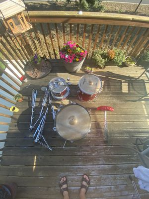 Drum set with 4 Cymbals, Cowbell & Seat for Sale in Vancouver, WA