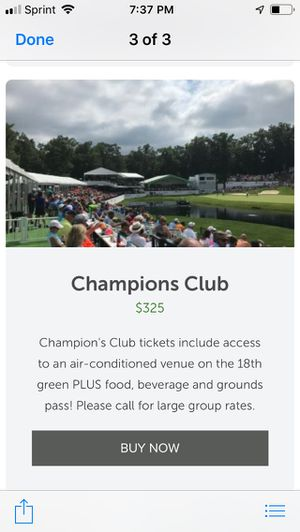 John Deere Classic VIP Lounge Tickets for Sale in Davenport, IA