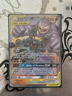 Marshadow & Machamp GX (82/214) S&M Unbroken Bonds for Sale in Westminster, CA