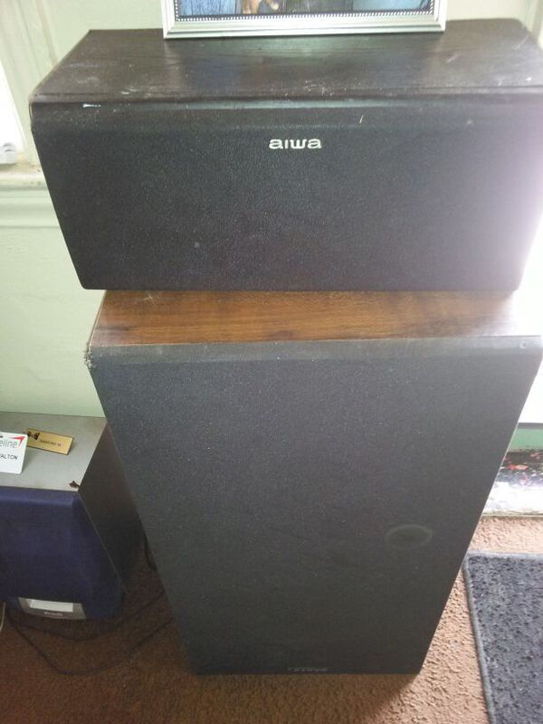2 big speakers one small and a subwoofer