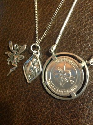 3 pieces Fairy and Angel Sterling Pendant and Pendant Necklaces - Excellent no problems for Sale in Poulsbo, WA