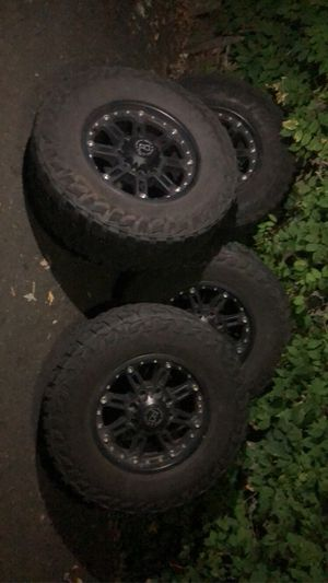 Black rhino rims with 35s for Sale in Gresham, OR