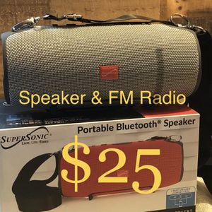 SuperSonic Bluetooth Wireless Rechargeable Speaker With FM Radio 🔊🎶🎶 for Sale in Montebello, CA