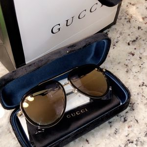 Gucci Aviator Metal Sunglasses GG0062S 003 for Sale in Pasadena, TX