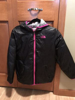 Northface Girl Down Jacket size 14/16 Revisible for Sale in Minneapolis, MN