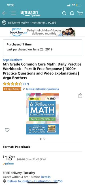 TWO BRAND NEW Common core work books for Sale in Huntington Park, CA