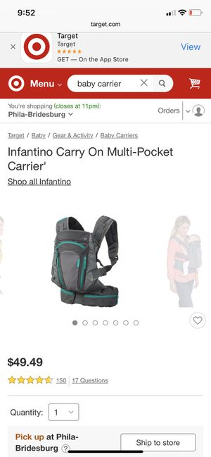 Baby carrier BRAND NEW for Sale in Philadelphia, PA