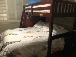 Rooms To Go Twin Over Full Bunk Bed for Sale in Houston, TX