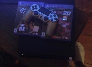 Ps4 with 1 controller and 2 games for Sale in North Chesterfield, VA