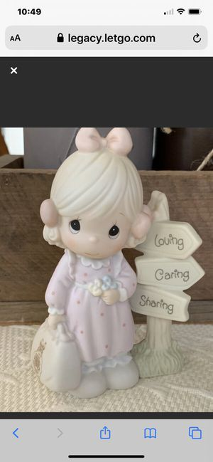 "Precious Moment Porcelain 1992 Membership ""Loving, Caring, and Sharing Along The Way"" Figurine for Sale in Danville, CA"