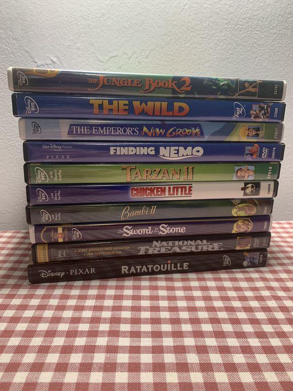 Disney Movie ten Pack (Jungle Book, Finding Nemo, national treasure, Bambi, sword in stone and more)