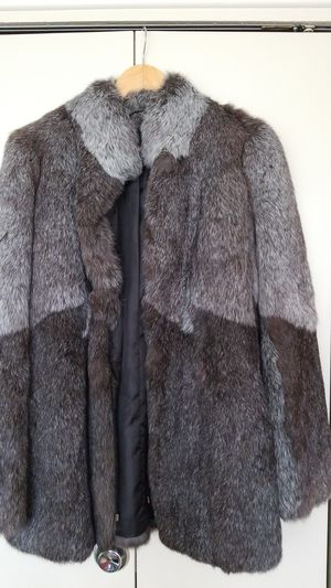 Short winter coat from real rabbit fur for Sale in Rockville, MD