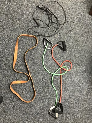 3 resistance bands and a jump rope for Sale in Fredericksburg, VA
